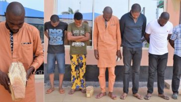 Suspected Internet Fraudster Caught With Mini Coffin As EFCC Arrests 6 'Yahoo Boys' In Ibadan 5