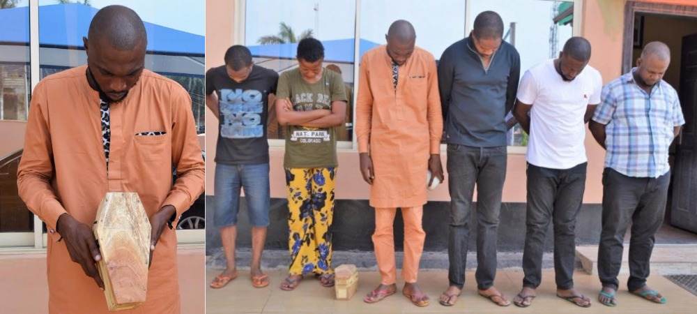 Suspected Internet Fraudster Caught With Mini Coffin As EFCC Arrests 6 'Yahoo Boys' In Ibadan 1