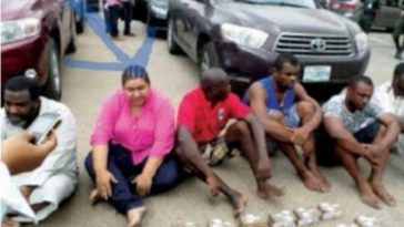 Lagos Police Arrests 7-Man Robbery Gang Led By Indian Lady Who Fortified Herself With Charms 5