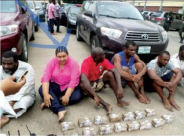 Lagos Police Arrests 7-Man Robbery Gang Led By Indian Lady Who Fortified Herself With Charms 1