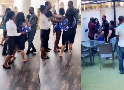 Drama As Angry Wife Catches Husband Red-Handed With His Side Chic Inside Benin Hotel [Video] 1