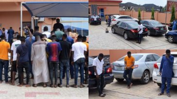 EFCC Arrests 42 Suspected Internet Fraudsters In Ogun, Recovers Eight Exotic Cars [Photos] 2