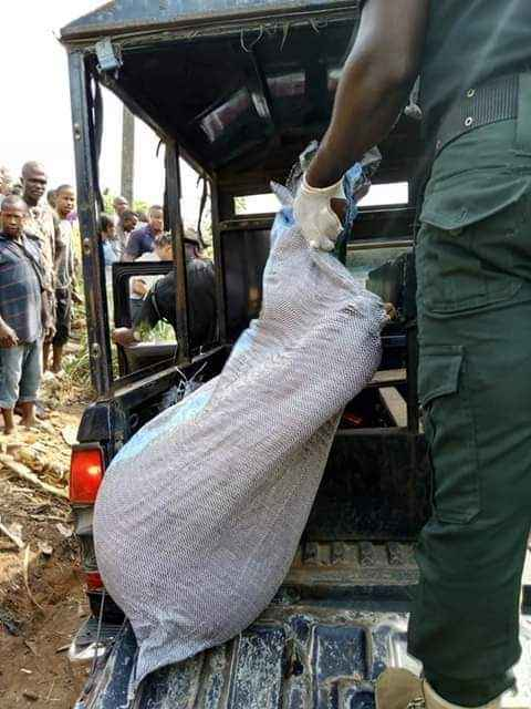 Lady Killed, Body Stacked In A Bag And Dumped On Road By Suspected Ritualists In Abia [Photos] 4
