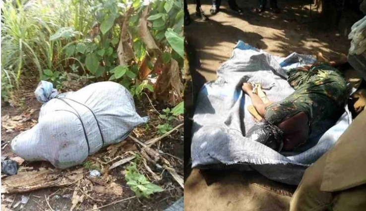 Lady Killed, Body Stacked In A Bag And Dumped On Road By Suspected Ritualists In Abia [Photos] 1