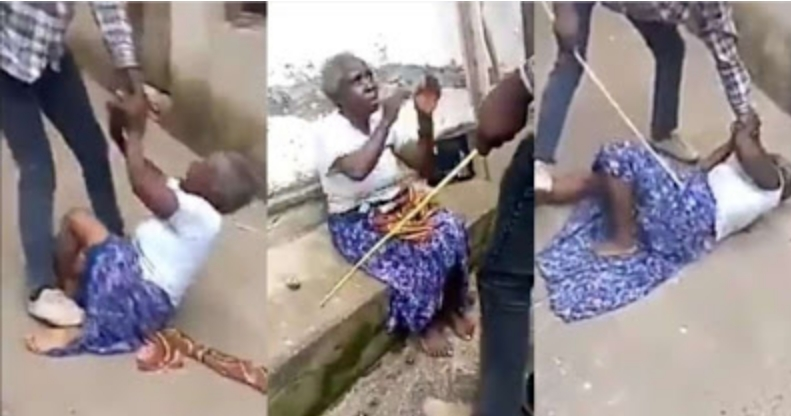 Young Man Flogs His Grandmother Over Alleged Claims By His Pastor That She Is A Witch [Video] 1
