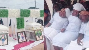 Couple Burried Amidst Tears After Being Killed In The Presence Of Their 3 Children In Umahia [Photos] 6