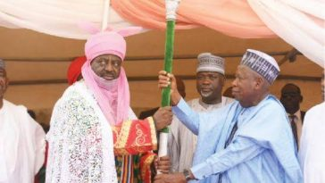 New Emir Of Kano, Bayero Sheds Tears As He Receives Letter Of Appointment From Governor Ganduje 7