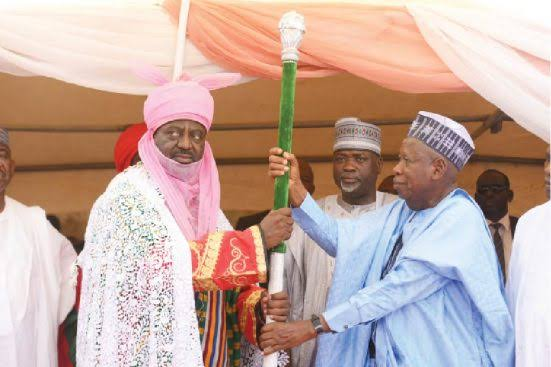 New Emir Of Kano, Bayero Sheds Tears As He Receives Letter Of Appointment From Governor Ganduje 1
