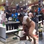 Drama As Angry Woman Attacks Her Cheating Husband, Breaks Bottle On His Head [Video] 27