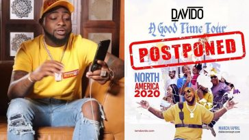 """Safety Of My Fans Is Paramount"" - Davido Postpones America Tour Over Fear Of Coronavirus 4"