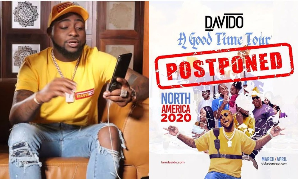 """""""Safety Of My Fans Is Paramount"""" - Davido Postpones America Tour Over Fear Of Coronavirus 1"""