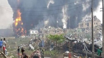 Suspected Pipeline Explosion Rocks Abule Ado In Lagos, Destroys Houses And Vehicles [Video] 6