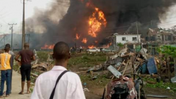 Lagos Explosion Occurred When A Truck Hit Some Gas Cylinders In Abule Ado - NNPC 4