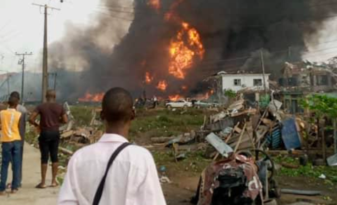 Lagos Explosion Occurred When A Truck Hit Some Gas Cylinders In Abule Ado - NNPC 1