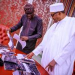 Lagos Governor, Sanwo-Olu Takes Pictures Of Abule-Ado Explosion To Buhari In Abuja [Photos] 27