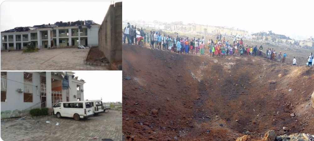 Suspected Bomb Explosion Allegedly Destroys Over 100 Houses In Akure, Ondo State [Photos/Video] 1
