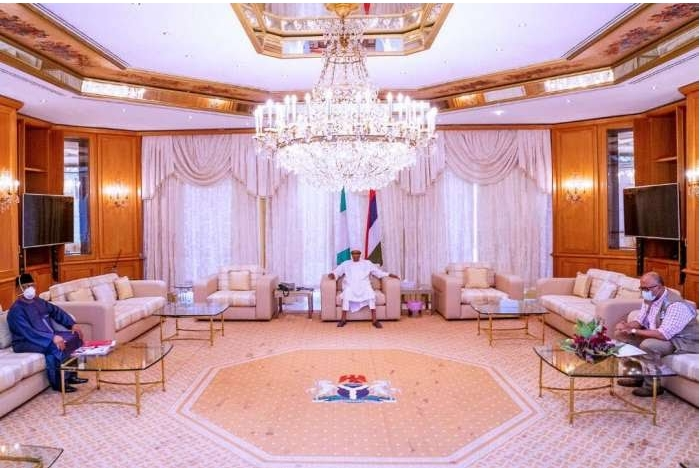 NCDC DG, Minister Of Health Visits Buhari In Aso Rock To Brief Him On Coronavirus [Photos/Video] 1