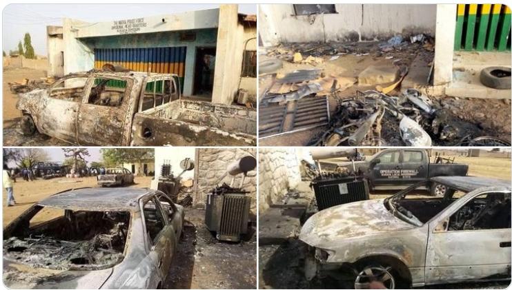 Coronavirus: Muslim Youths Burns Police Station In Katsina For Stopping  Their Prayers [Photos] | Kanyi Daily