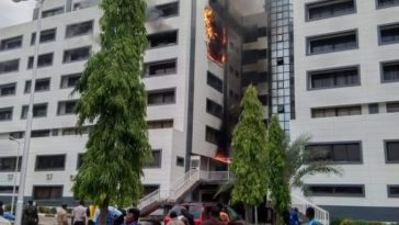 Office of the Accountant General of Nigeria on fire - Breaking News 3