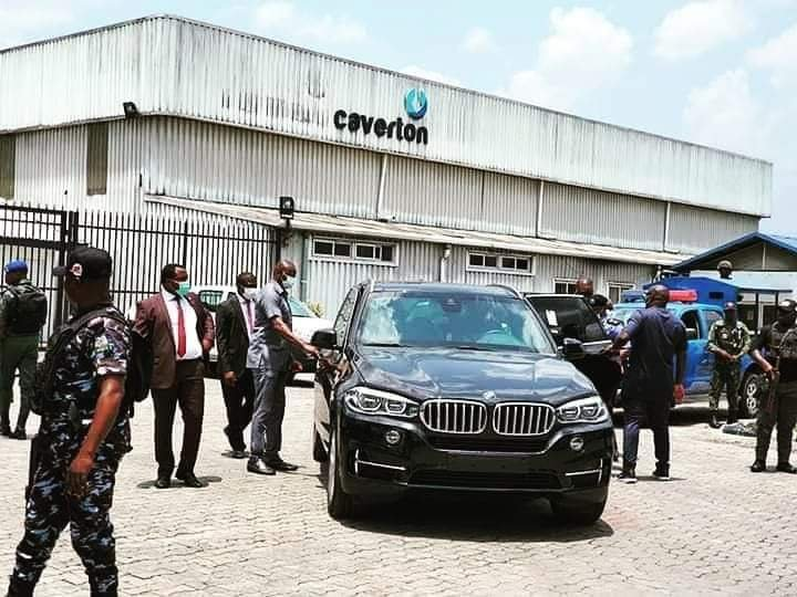 Governor Wike storms Caverton helicopters office, demand names of passengers flown into the state. 1