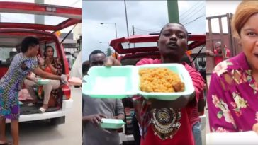 Ungrateful Nigerians Laments About 'Free Food' Given To Them By Good Samaritan Woman [Video] 7