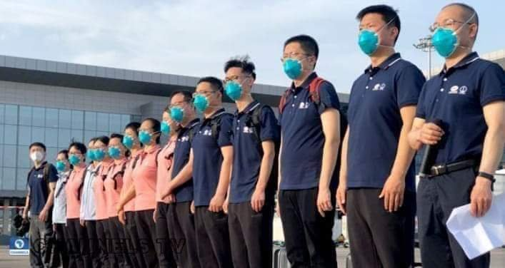 Chinese medical team arrives Nigeria to fight coronavirus - Breaking News 1