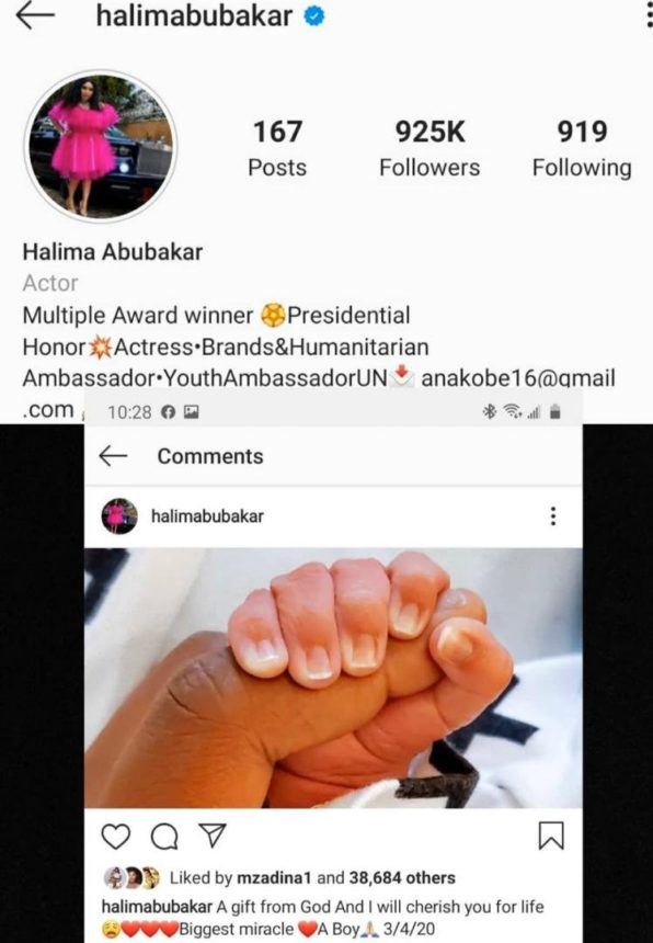 American Woman Drags Nollywood Actress Halima Abubakar For Stealing Her Baby Photo 2