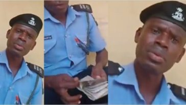 Police Arrests Officer Caught On Camera Collecting N40,000 Bribe From Motorist In Lagos [Video] 3