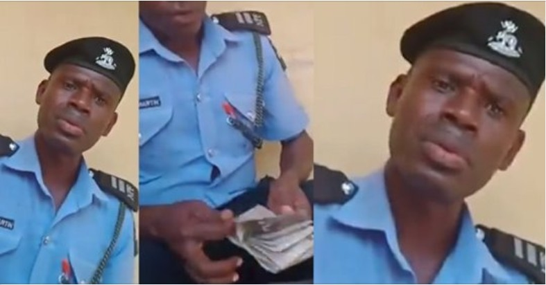 Police Arrests Officer Caught On Camera Collecting N40,000 Bribe From Motorist In Lagos [Video] 1