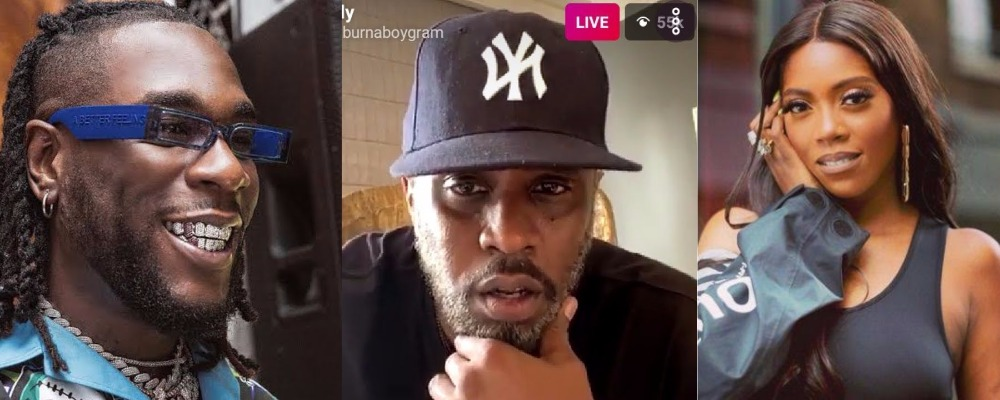 Diddy Grooves With Burna Boy, Tiwa Savage On IG Live, Promises To Organize Show In Nigeria [Video] 1