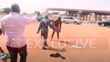 COVID-19 Lockdown: Drama As Hungry Taxi Driver Strips Naked To Protest Seizure Of His Car [Video] 6