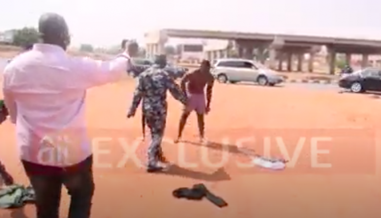 COVID-19 Lockdown: Drama As Hungry Taxi Driver Strips Naked To Protest Seizure Of His Car [Video] 2