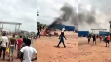 COVID-19: Nigerians Destroys Chinese Company In Ogun For Locking Them Inside Premises Without Payment 3