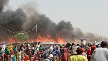 14 Persons Confirmed Dead As Fire Raze Down IDP Camp In Borno State 6