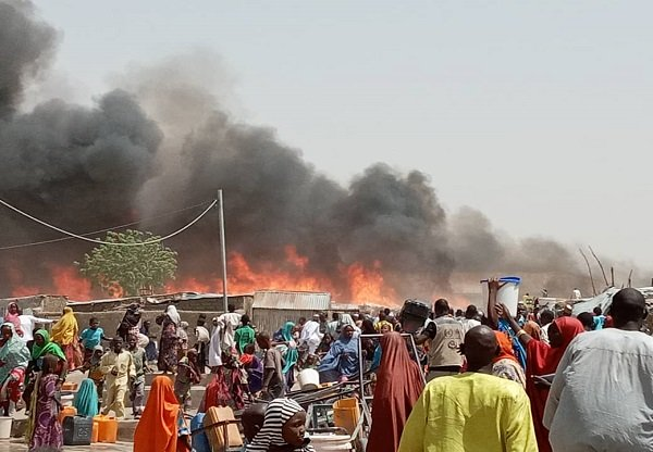 14 Persons Confirmed Dead As Fire Raze Down IDP Camp In Borno State 1
