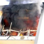 INEC Headquarters In Abuja Goes Up In Flames As Fire Service Battles To Quench The Inferno 27