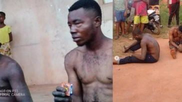 Gay Policeman And His Partner Caught And Beaten Mercilessly By Angry Youths In Imo 1