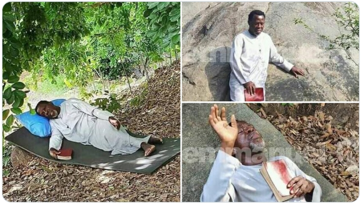 Prophet TB Joshua Praying And Fasting On A Mountain For Coronavirus To End [Photos/Video] 1