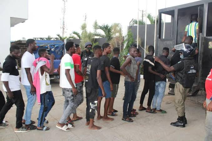 Police Arrest 65 Young People Who Threw A Birthday Party Amid COVID-19 Lockdown In Lagos 1