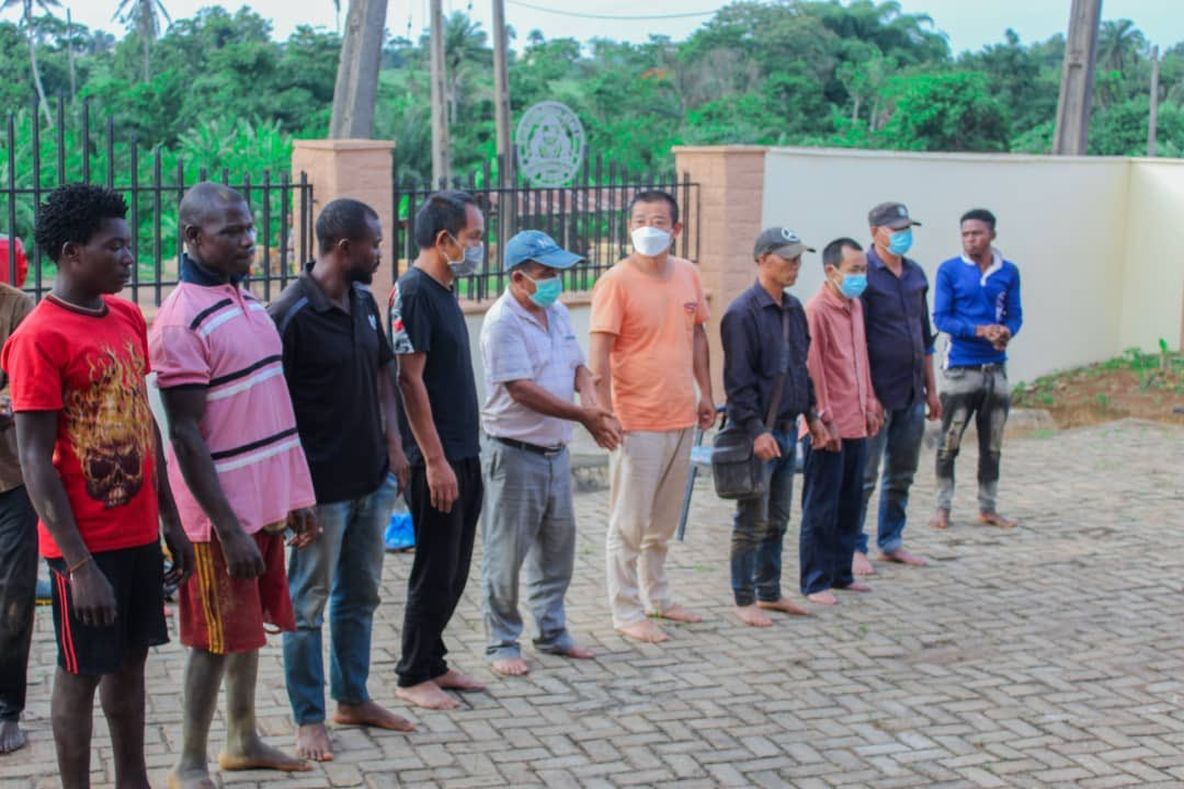 Amotekun Arrests 17 Chinese, 10 Nigerians Over Illegal Mining In Osun Forest [Photos] 2
