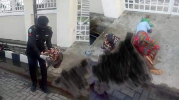 Nigerian Police Rescues Homeless Mother Of Four Who Gave Birth On Lagos Road [Photos] 6
