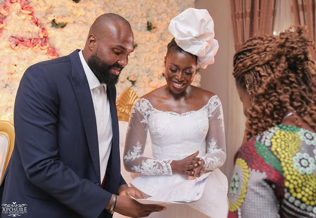 South African TV girl Vimbai Mutinhiri weds Dru Ekpenyong via colourful zoom wedding 5