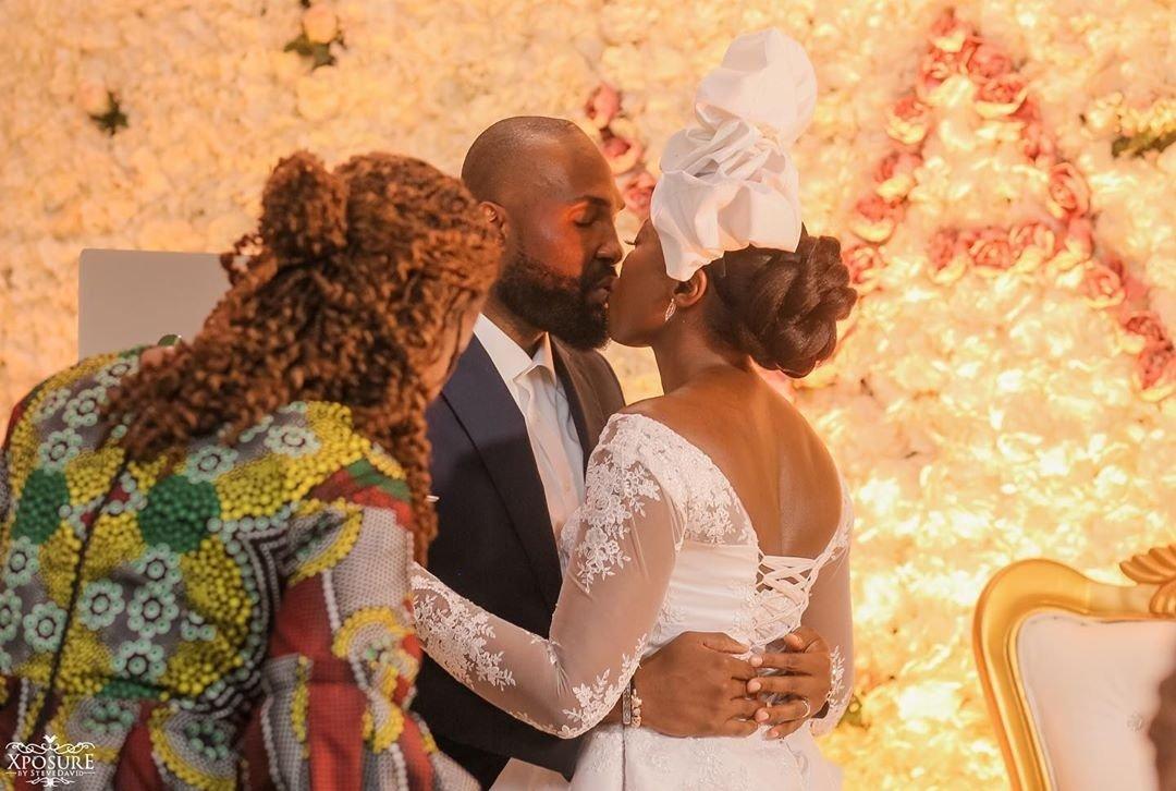 South African TV girl Vimbai Mutinhiri weds Dru Ekpenyong via colourful zoom wedding 6