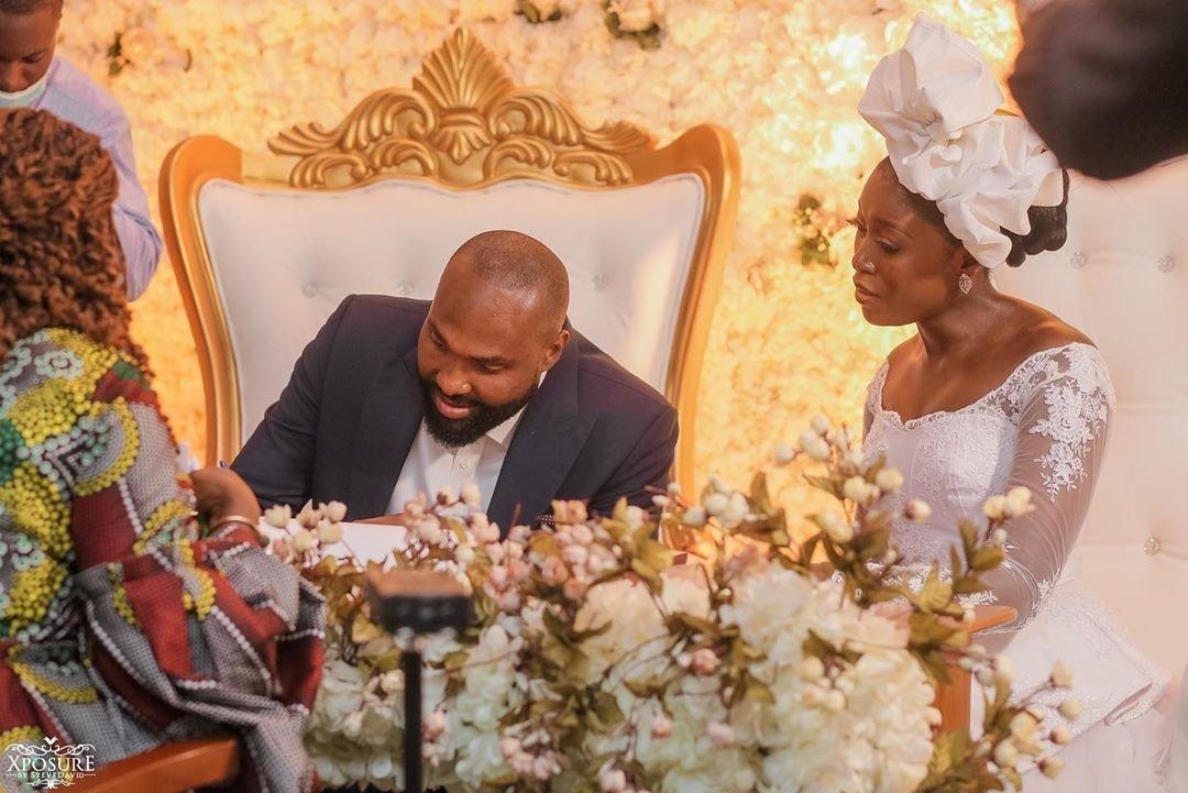 South African TV girl Vimbai Mutinhiri weds Dru Ekpenyong via colourful zoom wedding 7
