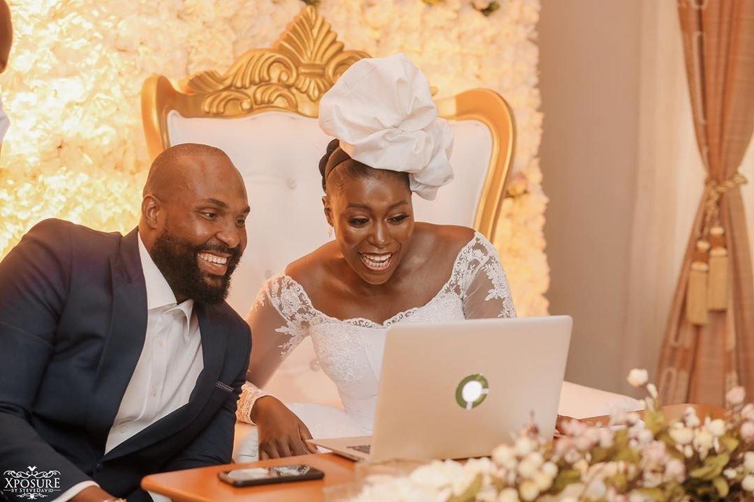 South African TV girl Vimbai Mutinhiri weds Dru Ekpenyong via colourful zoom wedding 8