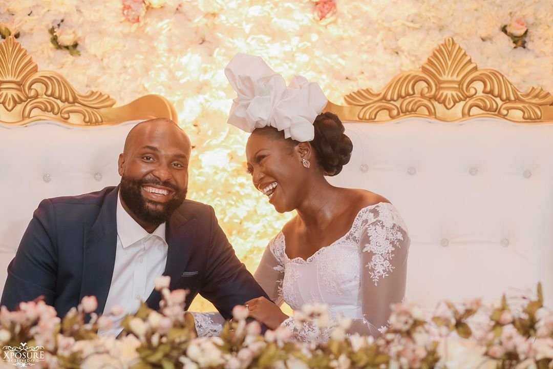 South African TV girl Vimbai Mutinhiri weds Dru Ekpenyong via colourful zoom wedding 10