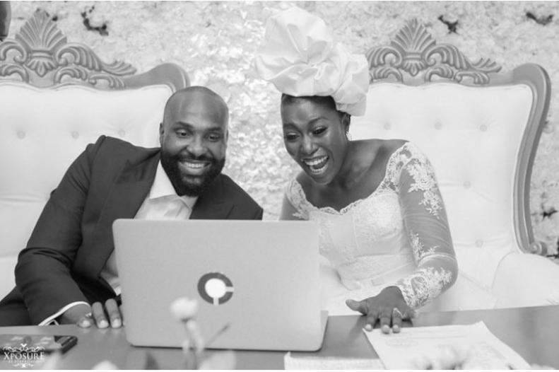 South African TV girl Vimbai Mutinhiri weds Dru Ekpenyong via colourful zoom wedding 11