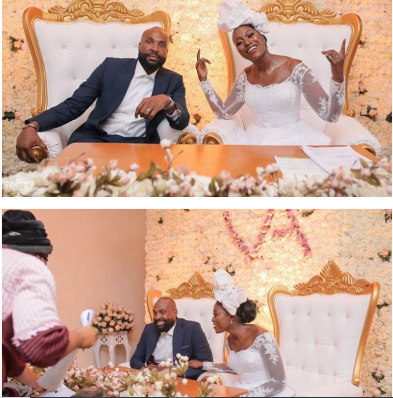 South African TV girl Vimbai Mutinhiri weds Dru Ekpenyong via colourful zoom wedding 13
