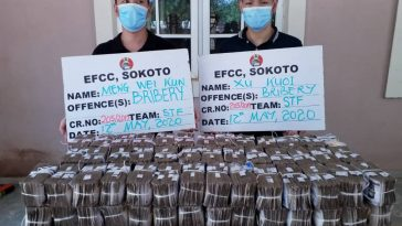 EFCC Arrests Two Chinese Men For Offering N100 Million Bribe To Its Top Officer In Sokoto 1