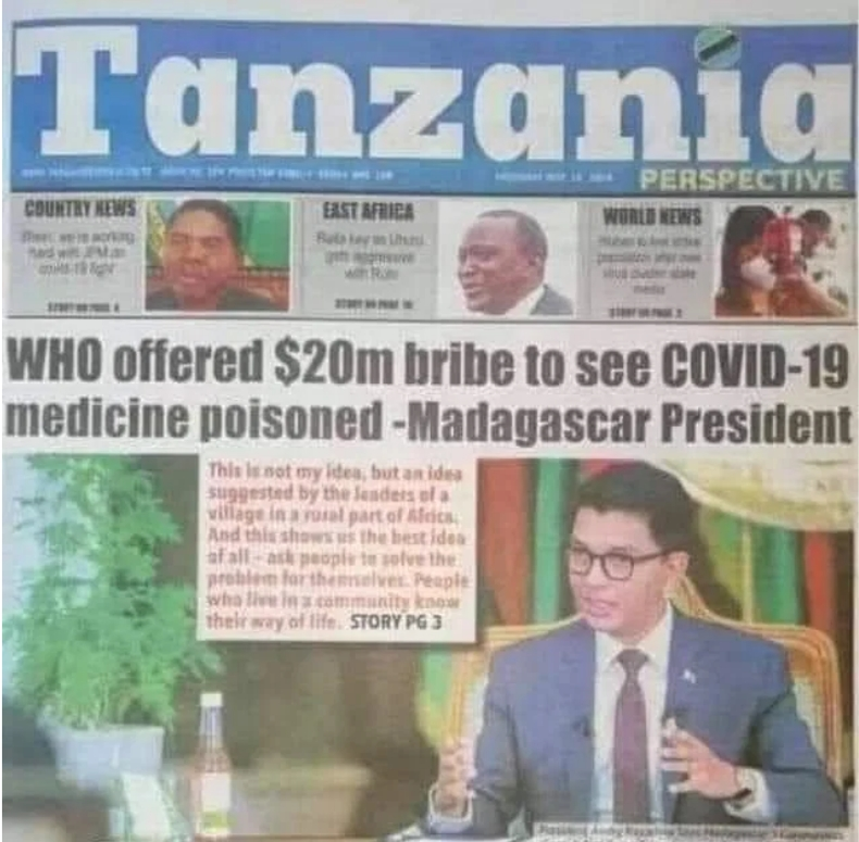 WHO Offered Us $20 Million Bribe To Poison Covid-19 Organic Cure - Madagascar President [Video] 2